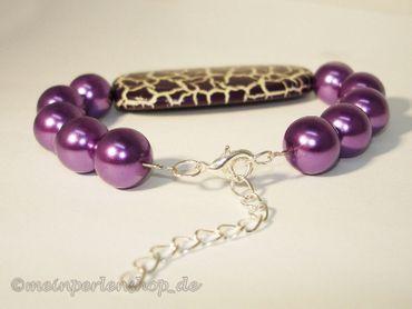 Effekt Perlen XXL Designer Perlen, braun krakeliert, 2 Stück #UU35 – Bild 3