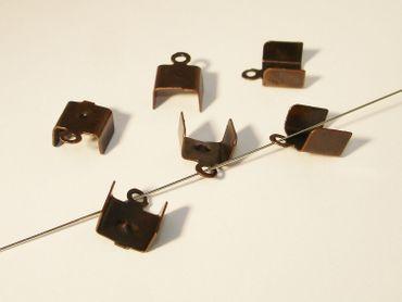Klemmbleche, Verbinder groß, 11x8mm, Kupfer, 6 Stück #Z124