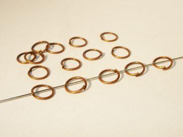 Biegeringe Spaltringe, Binderinge, Kupfer, 7mm, 50 Stück #Z27