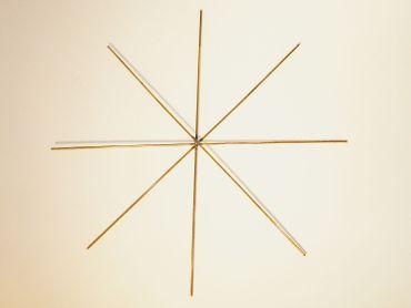 Drahtstern, Weihnacht Stern, basteln, 12 cm / 8 Strahlig, 4 Stück #WE6