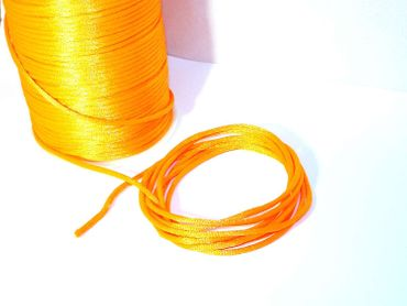 Satinkordel, Kordel Schnur, neon orange, 2mm, 5 Meter #FM9