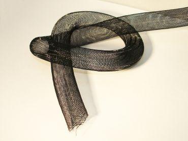 Netzschlauch, Schmuckschlauch, 16mm, Schwarz, 1 Meter #SH1 – Bild 1