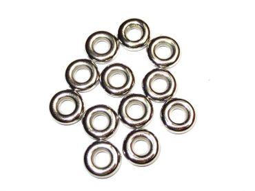 Metall - Ringe Verbinder Ösen 11x3mm, Silber, 30 Stück #Z19/6