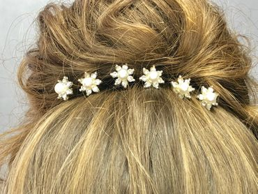 Haarnadeln Kopfschmuck Hochzeit Strass / Perle, 2 Stück #A09106 – Bild 2