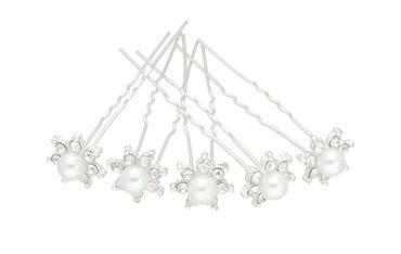 Haarnadeln Kopfschmuck Hochzeit Strass / Perle, 2 Stück #A09106 – Bild 1