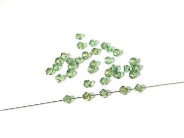 Swarovski® Perlen, 4mm, Bicone, erenite, 50 Stück #SW74 – Bild 1