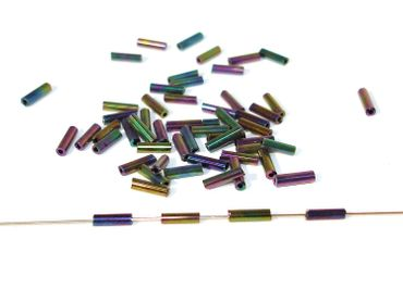 Glasstiftperlen Glasperlen 7x2mm Rainbow, 20 Gramm #GS6