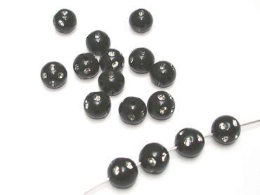 Acryl Kunststoffperlen - Perlen Strass 10mm Schwarz, 50 Stück #N2
