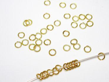 Biegering / Bindering, 4mm, Gold, 50 Stück #Z23
