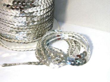 Paillettenband, Bauchtanz Deko, Hochzeit Karneval, Silber, 5 Meter #S33
