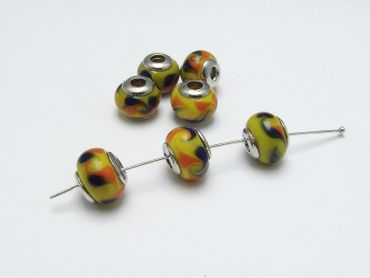 European Beads, Grosslochperle, Lampwork #EU1