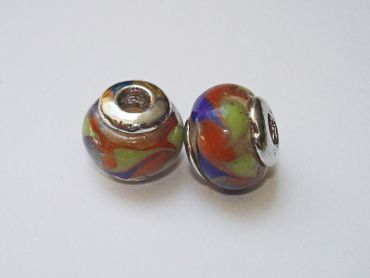European Beads, Grosslochperle, Lampwork #EU16
