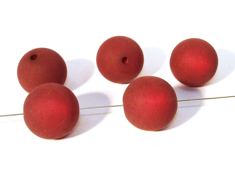 Polaris perlen kugel kette basteln 16mm dunkelrot matt 2 for Kugel laterne basteln