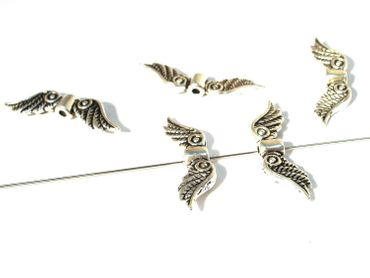 Metallperlen Engel Flügel 24mm Silber, 3 Stück #Z115 – Bild 1