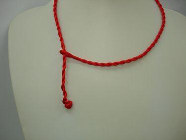 Halsband Satin Kordel für Anhänger Rot 50cm #OB14