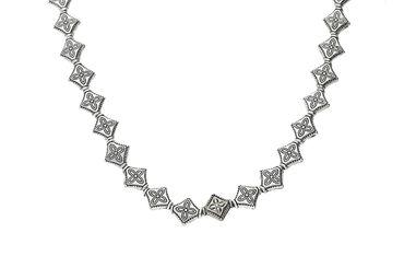 Metallperlen Raute, 10x8mm, Silber, 20 Stück #A00045 – Bild 1