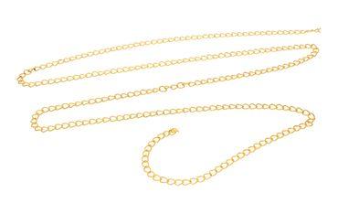 Metallkette Gliederkette - Bastelkette, Gold, 1 Meter #L30 – Bild 1