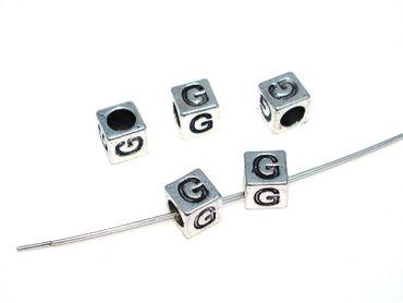 Metallperlen Buchstabe G 7x7mm, 2 Stück #U167 – Bild 1