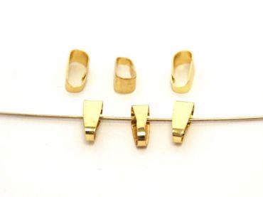 Collierschlaufen Anhängerschlaufen, 11x5mm, Gold, 10 Stück #A01397