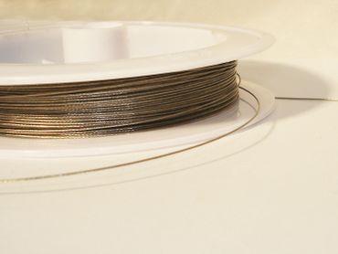 Schmuckdraht Stahlseide Schmuckdraht, Silber, 0,38mm, 5 Meter #SDS038