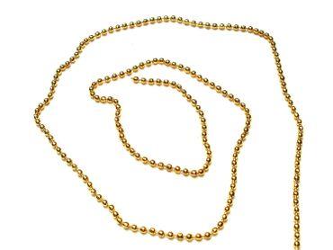 Metallkette Kugelkette Gold, 1 Meter #U164