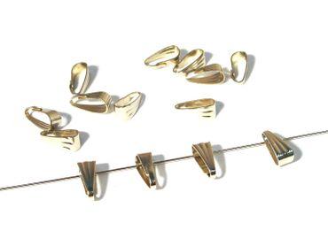 Collierschlaufen, Verbinder, 9x4mm, Silber, 10 Stück #Z58