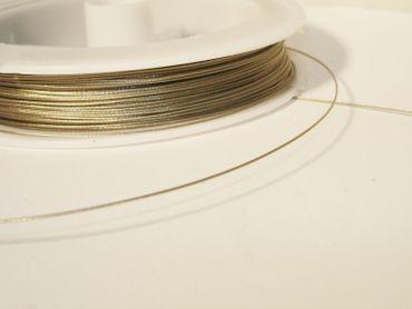 Schmuckdraht Stahlseide Schmuckdraht, 0,45mm, Silber, 5 Meter #SDS045