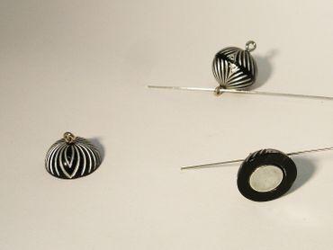 Polaris Magnetverschluss, Deko, 12mm, Schwarz / verziert #PU87P