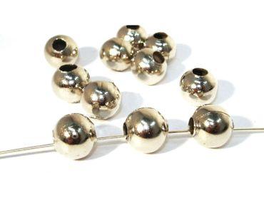 Metallperlen Kugel, Spacer, 10mm, Silber, 10 Stück #Z162/1