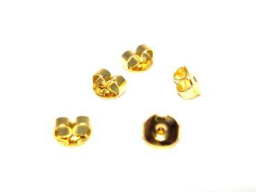 Verschluss Stopper für Ohrstecker, Gold, 24 Stück #A09193