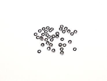 Halblinsen Perlenkappen, 4mm, Silber geschwärzt, 40 Stück #Z65