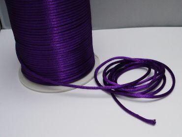 Satinkordel, Kordel Schnur, violett, 2mm, 5 Meter #FM19