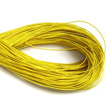Wachsband, Wachsschnur Perlenschnur, 1mm, gelb, 5 Meter #D63