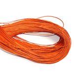 Wachsband, Wachsschnur Perlenschnur, 1mm, Orange, 5 Meter #D65