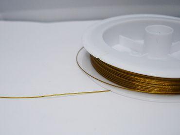 Schmuckdraht Stahlseide Schmuckdraht, Gold, 0,45mm, 5 Meter #SDG045