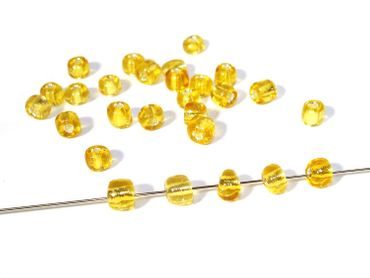 Rocailles Glasperlen, Gold, 20 Gramm #RO5 – Bild 1