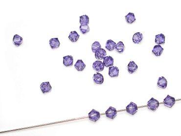 Swarovski® Perlen, 4mm Bicone, tanzanite, 10 Stück #SW38-10