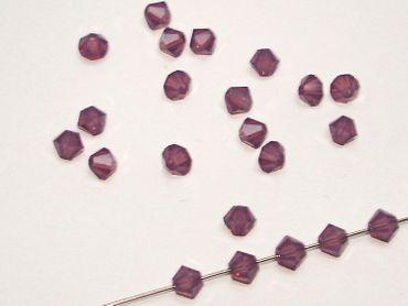 Swarovski® Perlen, 4mm Bicone, cyclamen opal, 50 Stück #SW39 – Bild 1