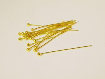 Kopfstifte Nietstifte Pin 35x0,5mm, Gold, 20 Stück #Z219/3 – Bild 1