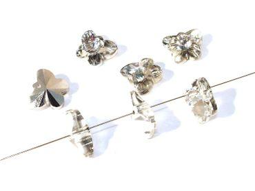 Facettierte Glasperlen Schmetterlinge, 15x12, kristall verspiegelt, 5 Stück #G215