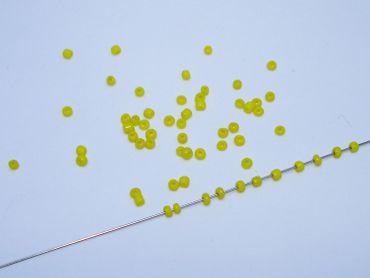 Rocailles Glasperlen, 2-2, 4mm, gelb, 20 Gramm #RC20 – Bild 1