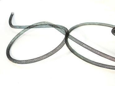 Netzschlauch Schmuckschlauch Schwarz 4mm, 1 Meter #SH5 – Bild 1