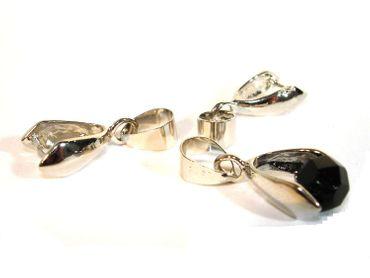 Collierschlaufen, Anhänger für Perlen, Silber, 5 Stück #Z48