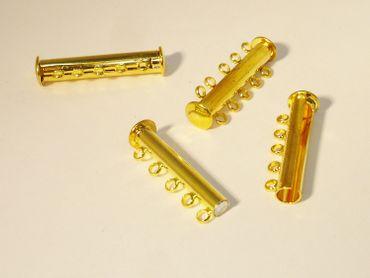 Magnetverschluss f. 5 Reihige Kette, 30x10,Gold #Z193/5