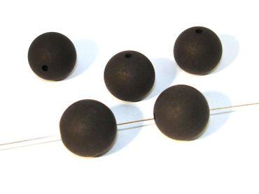Original Polaris Perlen, Kugel, 16mm, Schwarz matt, 2 Stück #PU11