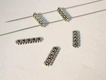 Verbinder, Connector, 17x5mm, Silber, 10 Stück #U29 – Bild 1