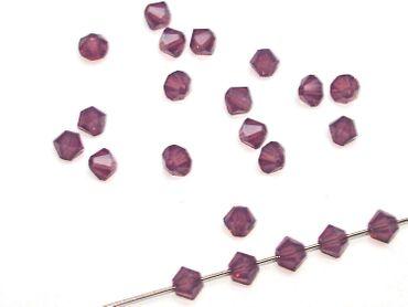 Swarovski® Perlen, 4mm Bicone, cyclamen opal, 10 Stück #SW39-10 – Bild 1