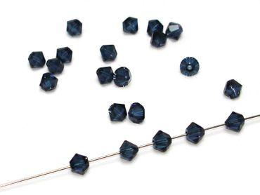 Swarovski® Perlen, 4mm Bicone, montana, 25 Stück #SW46-25