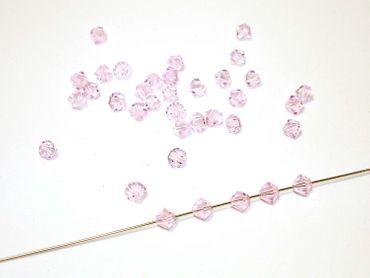 Swarovski® Perlen, 4mm Bicone, rosaline, 10 Stück #SW02-10 – Bild 1