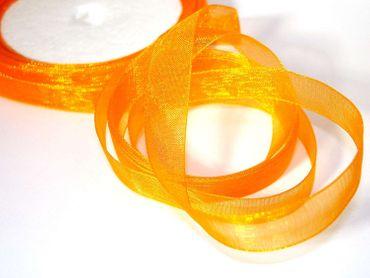 Organzaband, Chiffonband, Dekoband, Hochzeit, Orange, 5 Meter #OO21